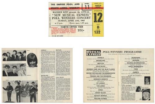 The Beatles NME Poll-Winners Concert 1965 + Ticket Stub tour programme UK BTLTRNM453771