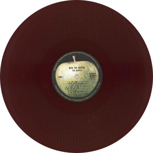 The Beatles With The Beatles - 1st - Red Vinyl + Obi vinyl LP album (LP record) Japanese BTLLPWI389107