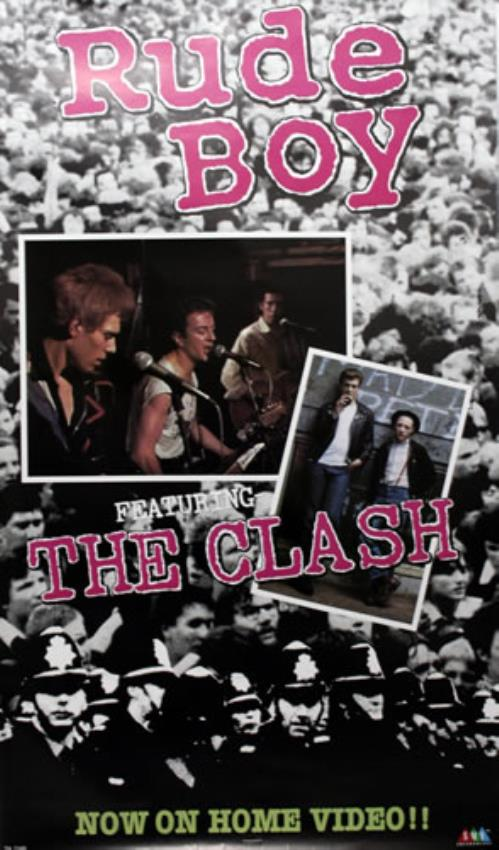 The Clash Rude Boy poster US CSHPORU545862