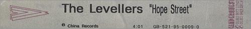 The Levellers Hope Street video (VHS or PAL or NTSC) UK LVLVIHO406830