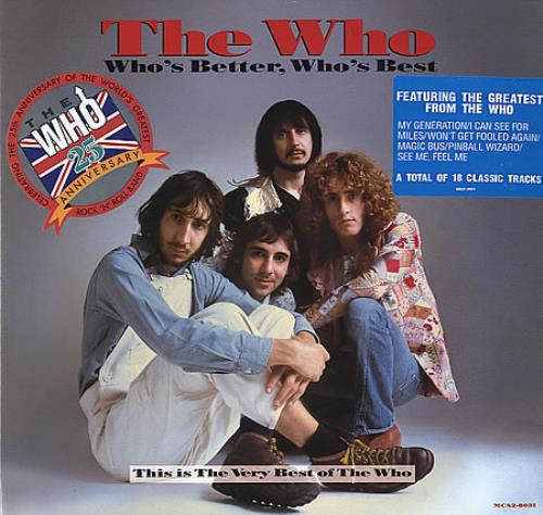 The Who Who's Better, Who's Best - Gold promo stamped 2-LP vinyl record set (Double Album) US WHO2LWH349536