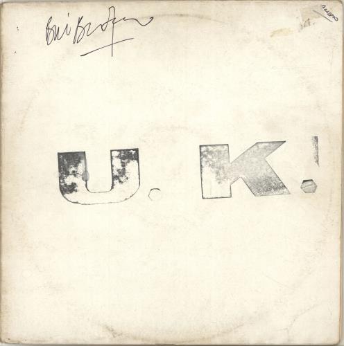 U.K. U.K. - Test Press - Autographed vinyl LP album (LP record) UK U-KLPUK700908