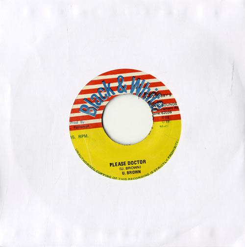 "U. Brown Please Doctor 7"" vinyl single (7 inch record) Jamaican UFA07PL561421"