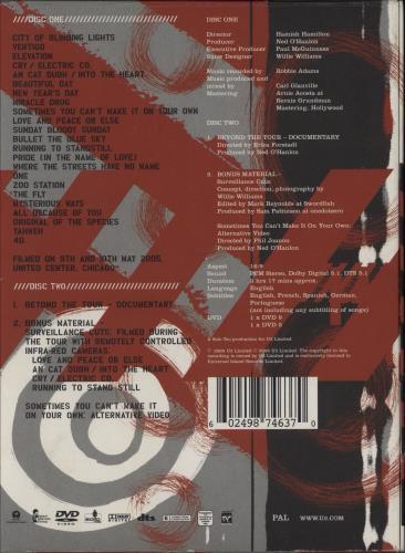 U2 2005 Vertigo - Live From Chicago DVD UK U-2DDVE745053