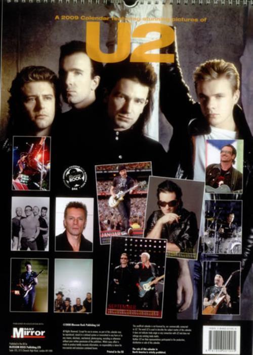 U2 2009 Calendar calendar UK U-2CACA545944