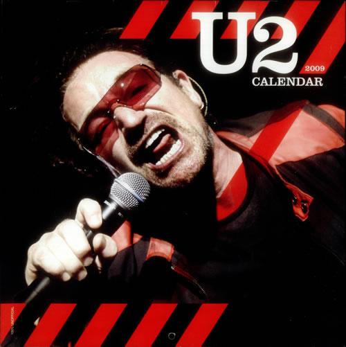 U2 2009 Calendar calendar UK U-2CACA545949