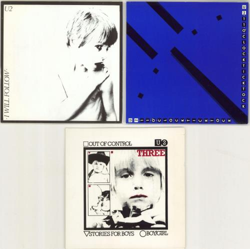 "U2 4 U2 Play - 'Sunburst' labels - 3 x 7s + Pack 7"" vinyl single (7 inch record) Irish U-207UP771623"