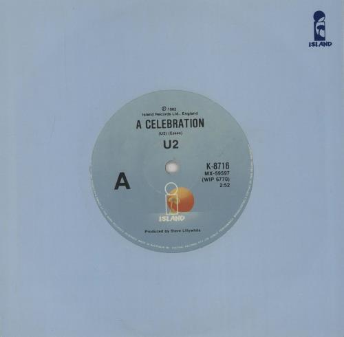 "U2 A Celebration - Island sleeve 7"" vinyl single (7 inch record) Australian U-207AC753470"