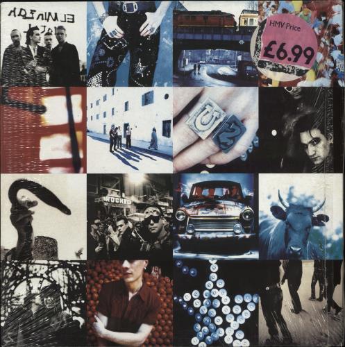 U2 Achtung Baby - Price Stickered & in Shrink vinyl LP album (LP record) UK U-2LPAC542059