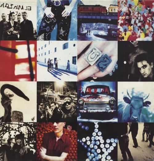 U2 Achtung Baby - Uncensored Sleeve + Inner - EX vinyl LP album (LP record) UK U-2LPAC428889