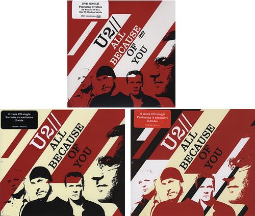 U2 All Because Of You - Collectors Edition 3-disc CD/DVD Set UK U-23DAL365595