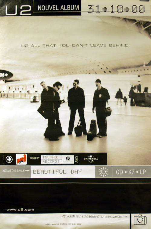 U2 All That You Can't Leave Behind poster French U-2POAL285907