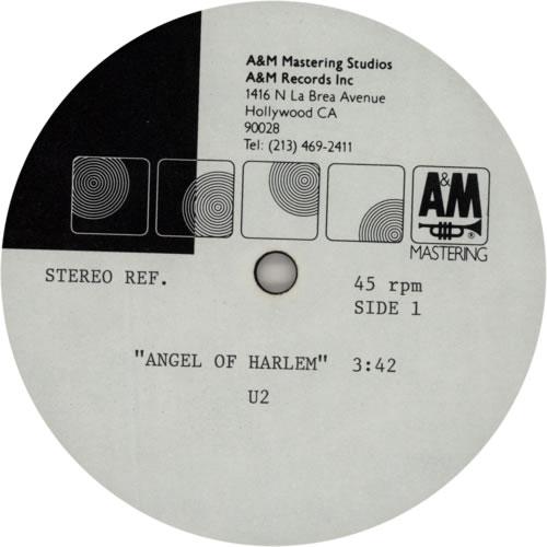 U2 Angel Of Harlem acetate US U-2ATAN594512