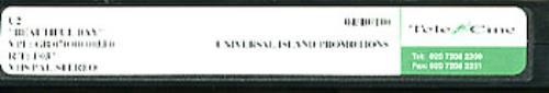 U2 Beautiful Day video (VHS or PAL or NTSC) UK U-2VIBE167315