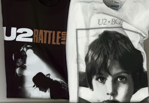 U2 Boy / The Unforgettable Fire / Rattle And Hum - Medium t-shirt UK U-2TSBO543524