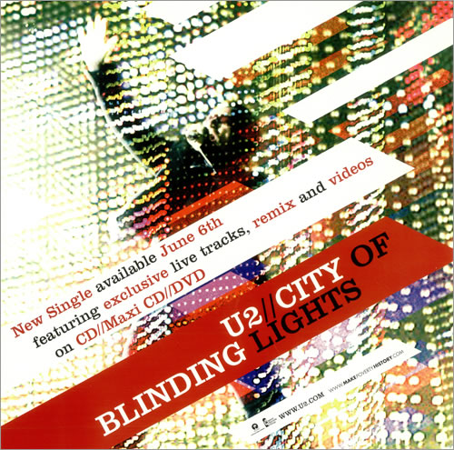 U2 City Of Blinding Lights - Display Flat display UK U-2DICI486207