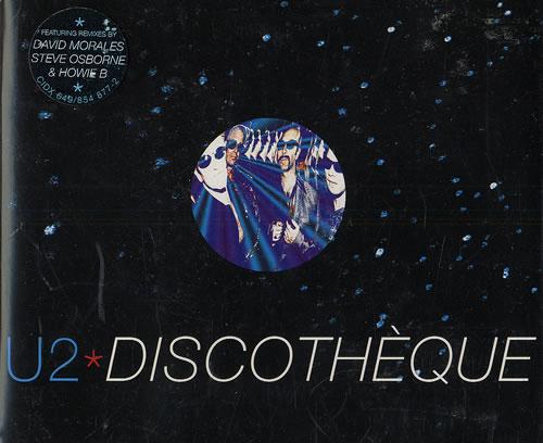 U2 Discotheque 2-CD single set (Double CD single) UK U-22SDI191442