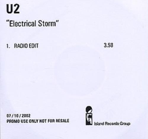 U2 Electrical Storm - Radio Edit CD-R acetate UK U-2CREL225618