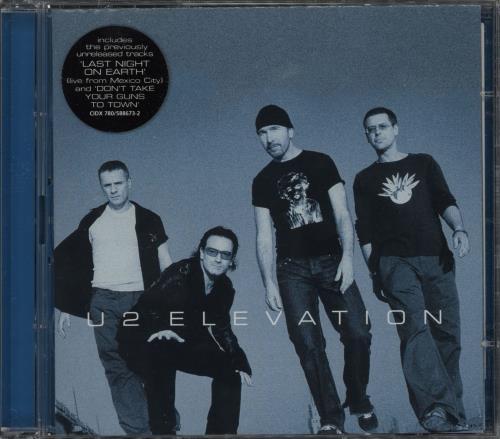U2 Elevation 2-CD single set (Double CD single) UK U-22SEL190608