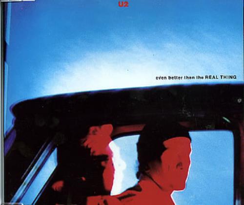 "U2 Even Better Than The Real Thing CD single (CD5 / 5"") French U-2C5EV06664"