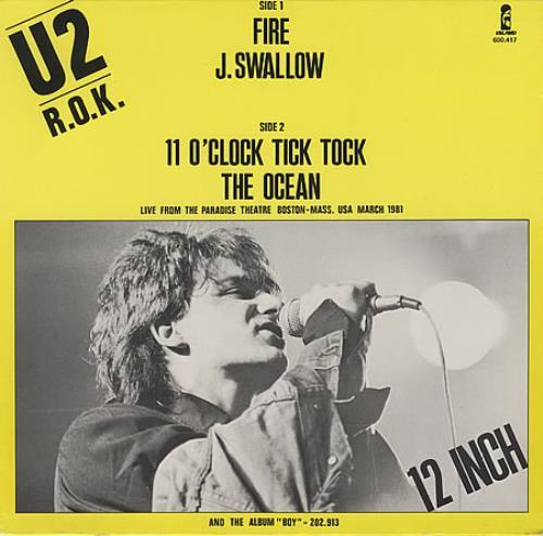 "U2 Fire 12"" vinyl single (12 inch record / Maxi-single) German U-212FI400759"