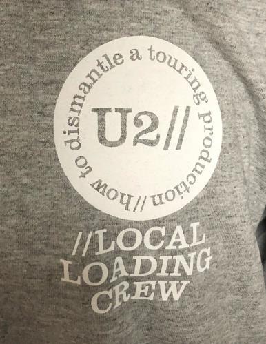 U2 How To Dismantle A Touring Production - Grey XL t-shirt UK U-2TSHO728987