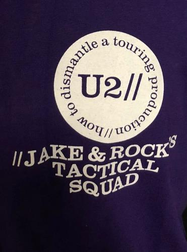 U2 How To Dismantle A Touring Production - Purple XL t-shirt UK U-2TSHO728988