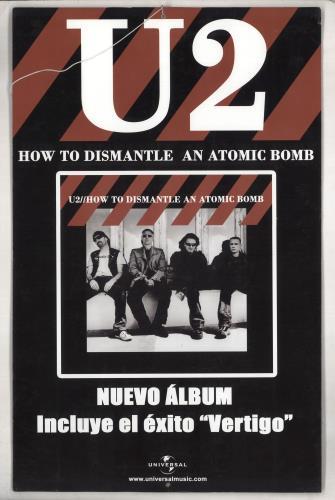 U2 How To Dismantle An Atomic Bomb - Display display Colombian U-2DIHO313626
