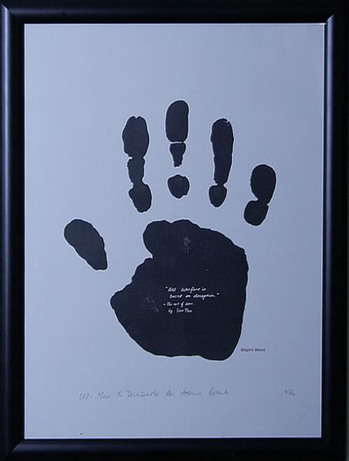 U2 How To Dismantle An Atomic Bomb - Framed Print - The Edge memorabilia UK U-2MMHO520070