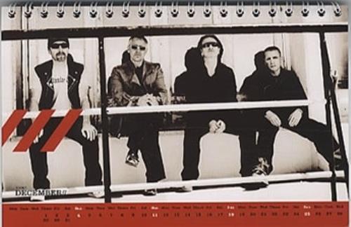 U2 How To Dismantle An Atomic Bomb calendar UK U-2CAHO320048
