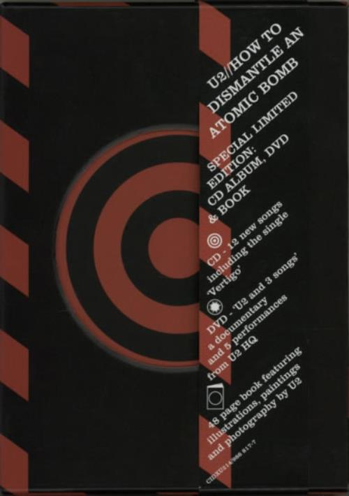 U2 How To Dismantle An Atomic Bomb 2-disc CD/DVD set UK U-22DHO601226