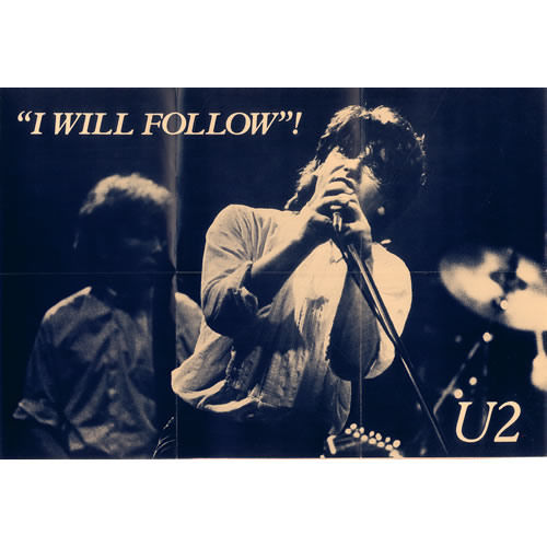 "U2 I Will Follow - Poster Sleeve 7"" vinyl single (7 inch record) US U-207IW07269"