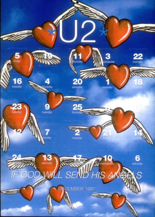 U2 If God Will Send His Angels - Advent Calender memorabilia UK U-2MMIF101570