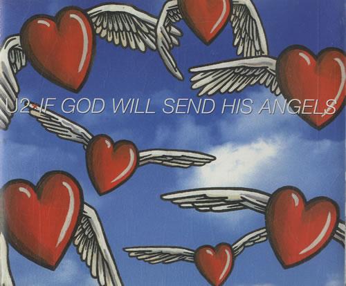"""U2 If God Will Send His Angels CD single (CD5 / 5"""") UK U-2C5IF164255"""