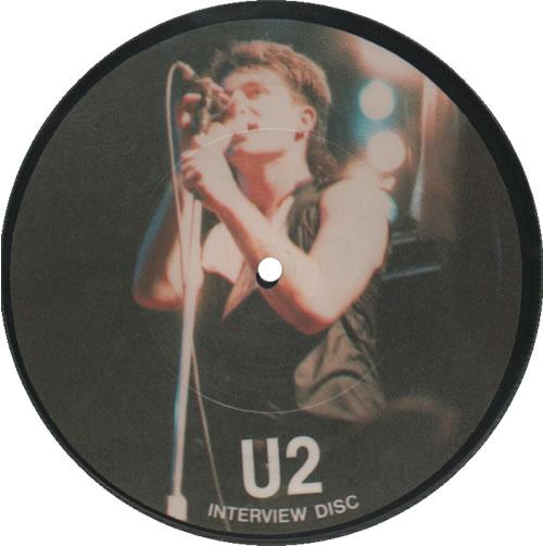 "U2 Interview Disc - Newcastle 1.3.83 7"" vinyl picture disc 7 inch picture disc single UK U-27PIN71467"