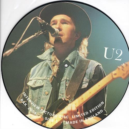 U2 Interview Picture Disc - Bono picture picture disc LP (vinyl picture disc album) UK U-2PDIN349667
