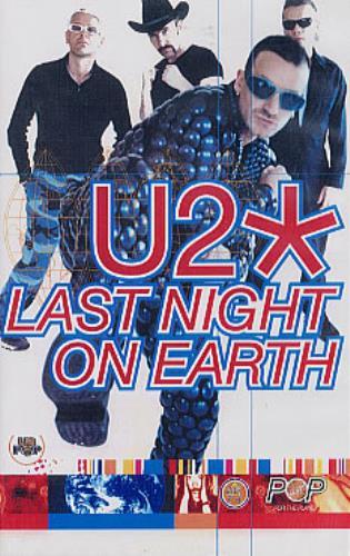 U2 Last Night On Earth video (VHS or PAL or NTSC) UK U-2VILA129402