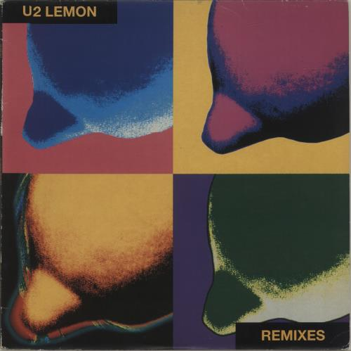 "U2 Lemon Remixes - VG+ 12"" vinyl single (12 inch record / Maxi-single) UK U-212LE394112"