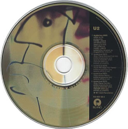"U2 Mysterious Ways US CD single (CD5 / 5"") (69372)"