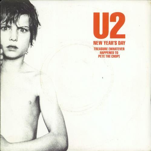 """U2 New Year's Day 7"""" vinyl single (7 inch record) French U-207NE555582"""