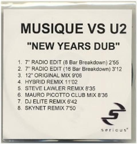 U2 New Years Dub - 8-mix CD-R acetate UK U-2CRNE184140