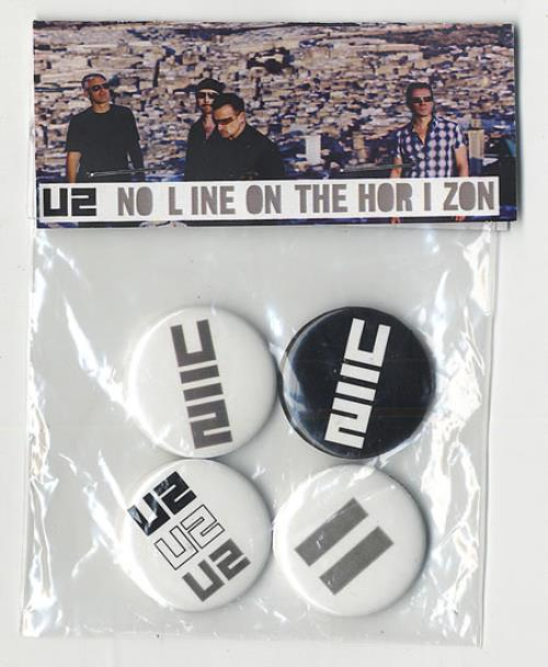 U2 No Line On The Horizon - Set Of Four Promo Badges badge UK U-2BGNO495118