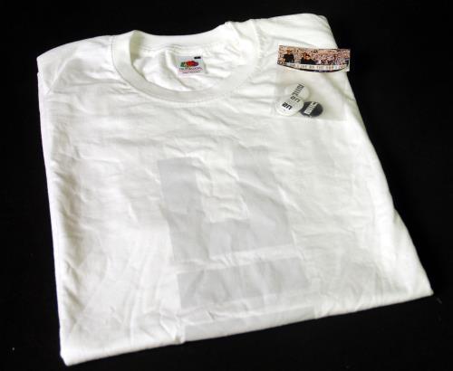 U2 No Line On The Horizon - White T-Shirt [L] + Badges t-shirt UK U-2TSNO670142