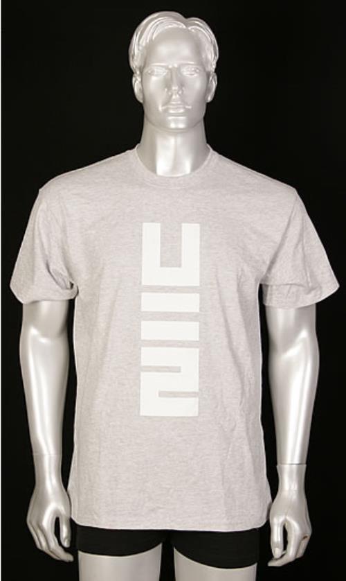 U2 No Line On The Horizon T-shirt - Grey Size M t-shirt UK U-2TSNO492560