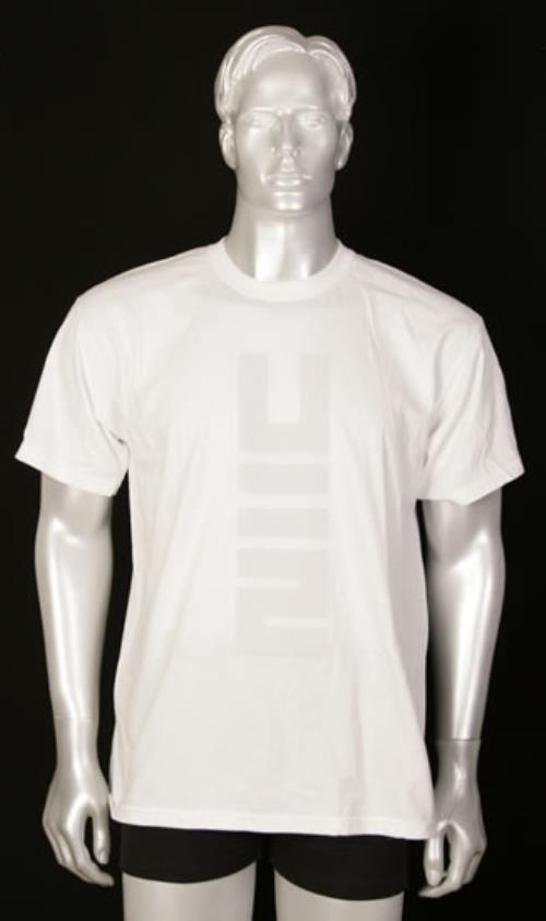 U2 No Line On The Horizon T-shirt - White Size M t-shirt UK U-2TSNO492578