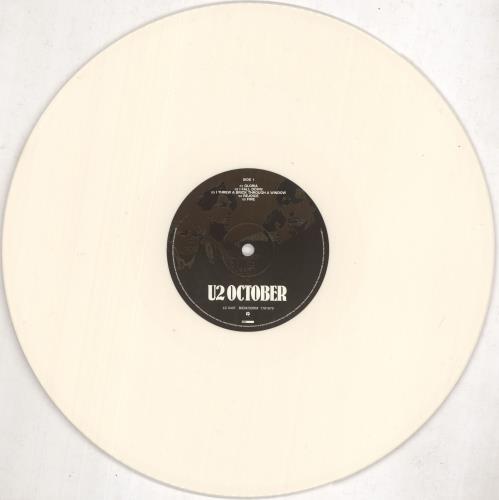 U2 October - 180gram Cream Vinyl + Shrink vinyl LP album (LP record) UK U-2LPOC739880