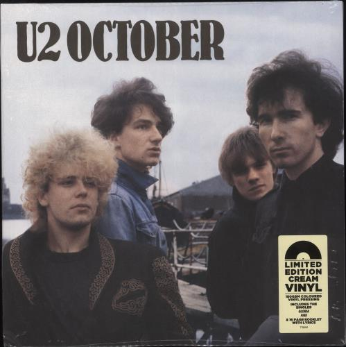 U2 October - 180gram Cream Vinyl - Sealed vinyl LP album (LP record) UK U-2LPOC736206