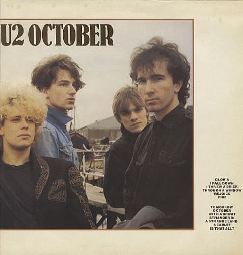 U2 October - EX vinyl LP album (LP record) UK U-2LPOC329326