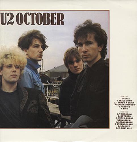 U2 October vinyl LP album (LP record) Australian U-2LPOC114395