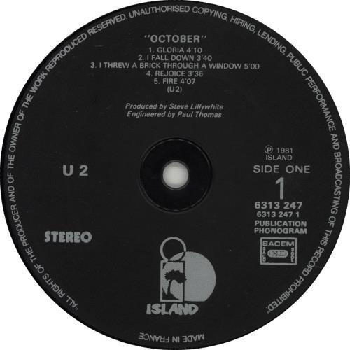 U2 October vinyl LP album (LP record) French U-2LPOC276939